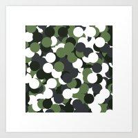 #430 Camouflage – Geom… Art Print