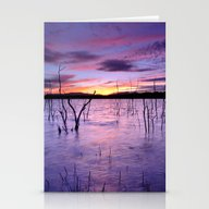 Purple Waters Stationery Cards