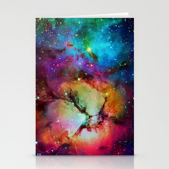 Floral Nebula Stationery Card