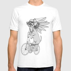 Steam Punk Chihuahua Mens Fitted Tee White SMALL
