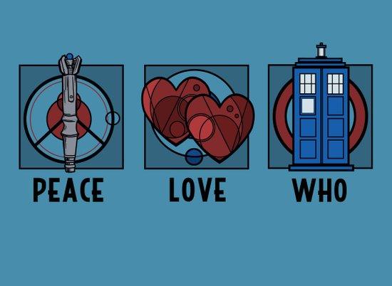 Peace, Love, Who Art Print