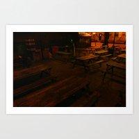 Empty Tables Art Print