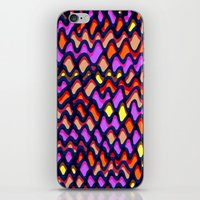 Painted and digital wibbly pattern iPhone & iPod Skin