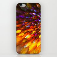Champagne Sparkles and Color Bomb Burst iPhone & iPod Skin