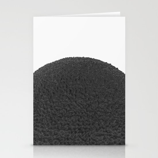 Black sphere Stationery Card