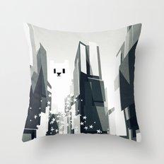 Yeti coming to town. Throw Pillow