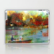Afternoon autumnal in Central Park Laptop & iPad Skin