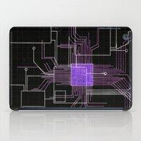 Circuit board purple iPad Case