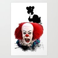 Pennywise The Clown: Mon… Art Print