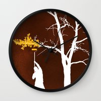 Relief Painting Wall Clock