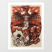 Kaiju Lighthouse Art Print