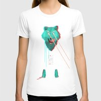 Wolf With F**king lasers Womens Fitted Tee White SMALL