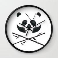 Panda Pirate! Wall Clock