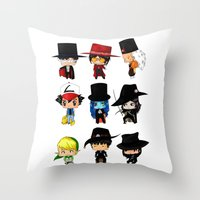 Anime Hatters Throw Pillow