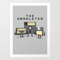 The Obsoletes (Retro Flo… Art Print