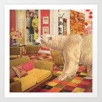 Polar Bear Neighbor Art Print