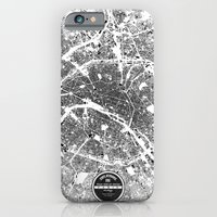 paris iPhone & iPod Cases featuring PARIS by Maps Factory
