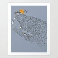 Howl River Art Print