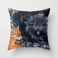 Yellowfang and Firepaw Throw Pillow