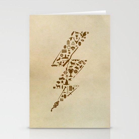 Lightning never strikes twice  Stationery Card