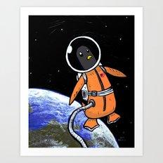 Penguinaut! Art Print
