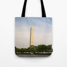 Paddling Up to the Washington Monument Tote Bag