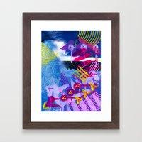 Wave purple Framed Art Print