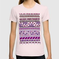 Yzor pattern 001 pink Womens Fitted Tee Light Pink SMALL