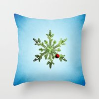 Winter Holidays Pine Sno… Throw Pillow