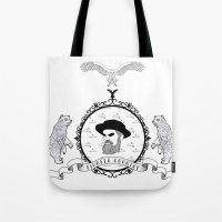 Black beard Tote Bag