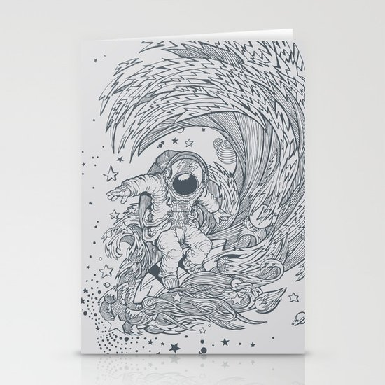 I only surf on Comets Stationery Card