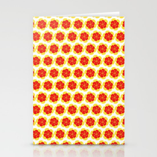 Bright Spring Floral Stationery Card