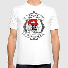Original Plumber Mens Fitted Tee White SMALL