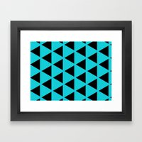 Sleyer Black on Blue Pattern Framed Art Print