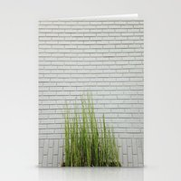 Green On White Stationery Cards