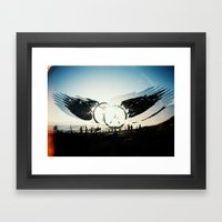 Fly High to the Sky Analog Zine Framed Art Print