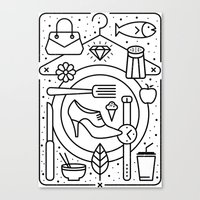 Food And Fashion Canvas Print