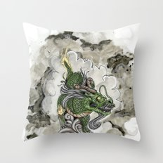 Dragon of The Mist Throw Pillow