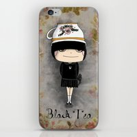 Black Tea Girl iPhone & iPod Skin