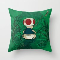 Toad Throw Pillow