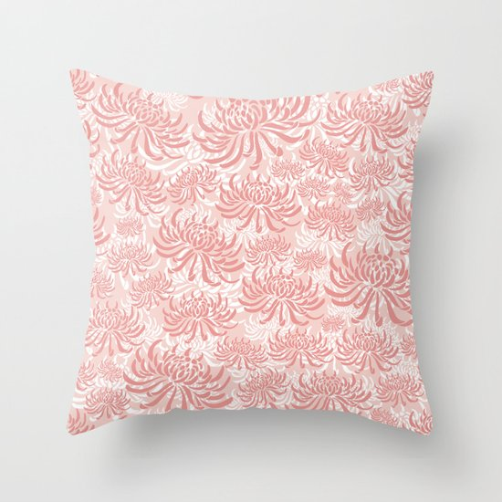 Go Orient Chrysanthemum Throw Pillow