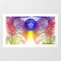 Art Print featuring Spirited Fractal by Timothy DaRoma