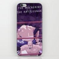Rattlesnake VS Wolverine iPhone & iPod Skin