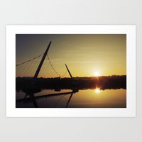 Peace Bridge, Derry  Art Print