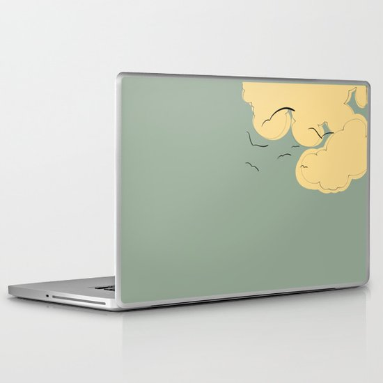 The Yellow Clouds Laptop & iPad Skin