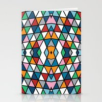 Geo Outline Colour Stationery Cards