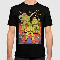 TURTLES FIGHTERS - REVEN… Mens Fitted Tee Black SMALL
