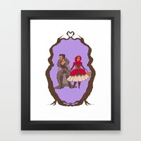 Little Red Riding Hijabi Framed Art Print