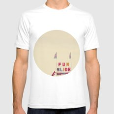 Fun Slide Mens Fitted Tee SMALL White