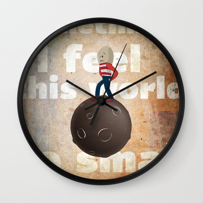 small world wall clock by jnk2007 society6. Black Bedroom Furniture Sets. Home Design Ideas
